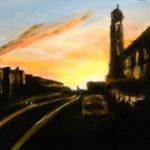 Sunset Series – N Judah, acrylic on canvas.