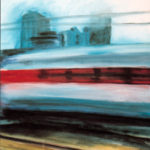 Fast Train, acrylic on canvas.
