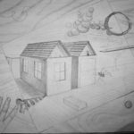 2-point perspective and absurdism, Beginning Drawing.